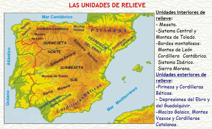 Bibine el relieve de espa a pincha en la imagen para for Exteriores espana