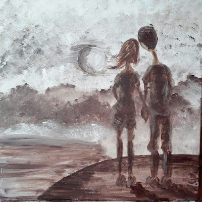 zakochani w świetle księżyca