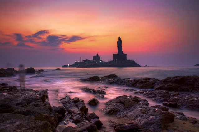 Sunrise View Point of Kanyakumari