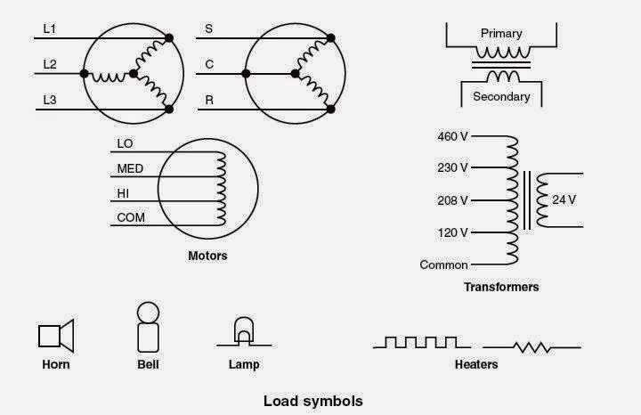 one line diagram symbols electrical heater