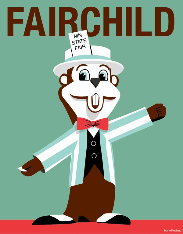 Fairchild Minnesota State Fair - MN Roadside Attraction Travel Poster