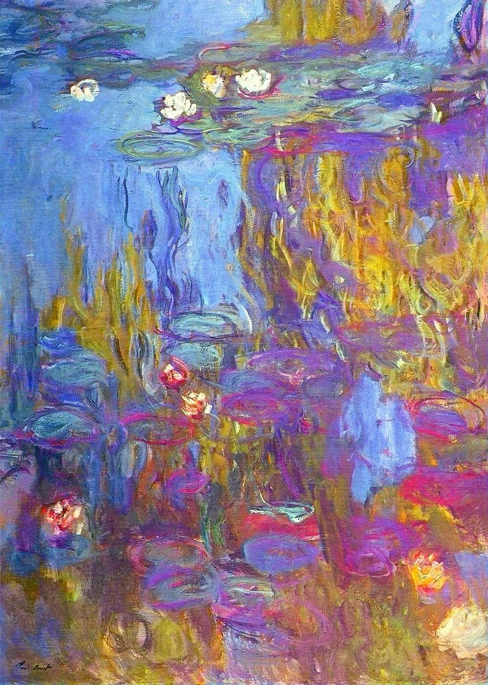 Art artists claude monet part 23 1897 1922 water lilies for Monet paintings images