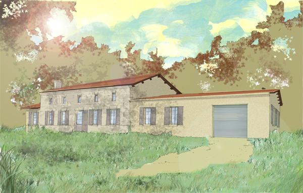 Archi maison en for t c cile ana s goua de baix for Maison archi foret
