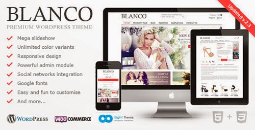 Blanco Version 2.3 - Responsive WordPress E-Commerce Theme Free