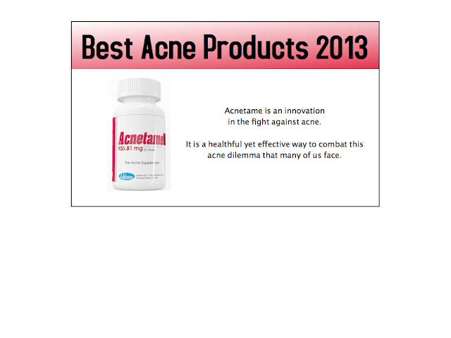 best acne products 2013