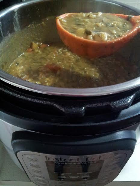 how to make pea soup in an instant pot