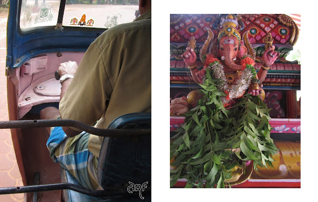 rickshaw driver and Ganesha