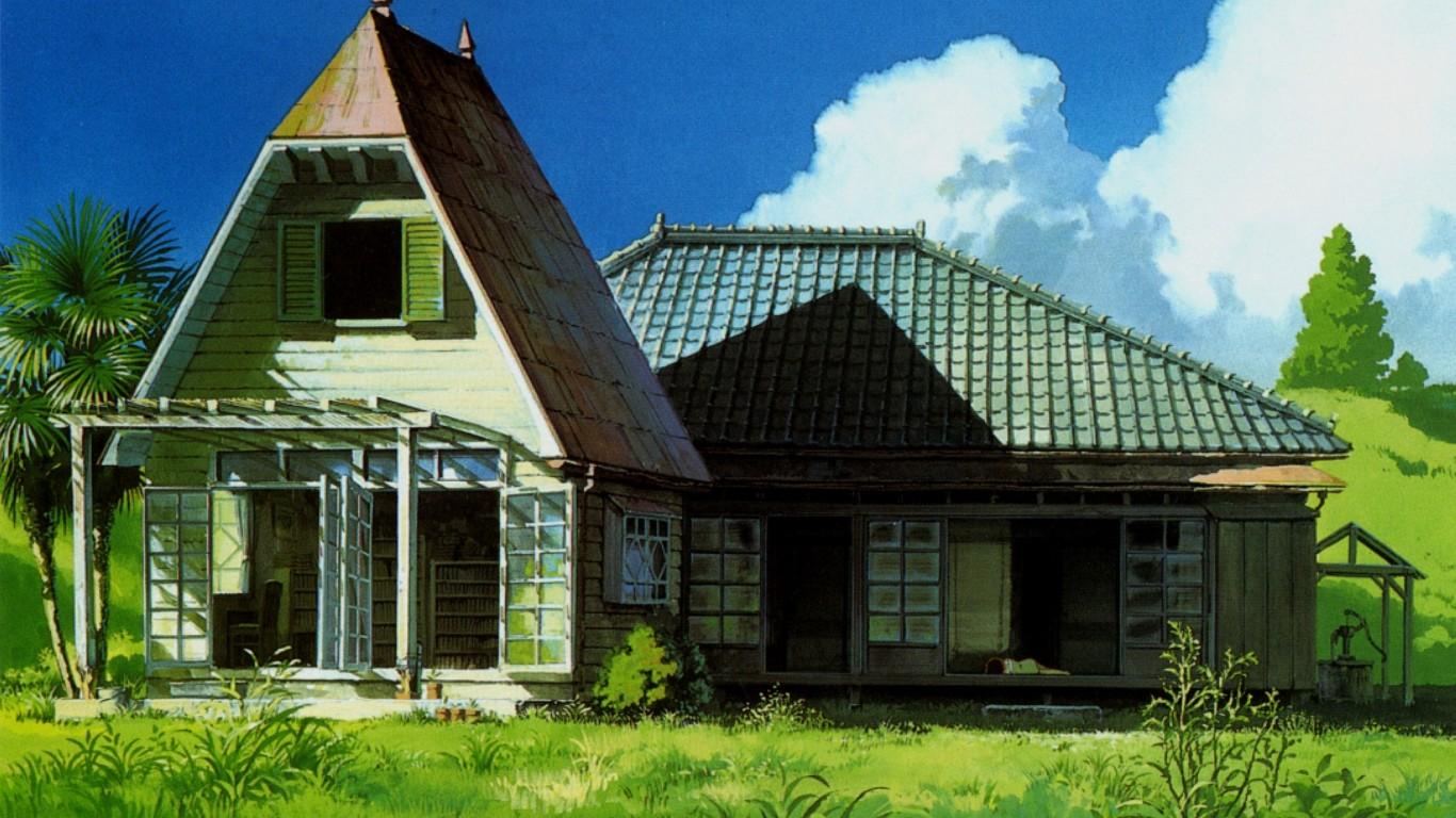 Satsuki dan mei menjelajahi rumah baru mereka dan mendapat pengalaman