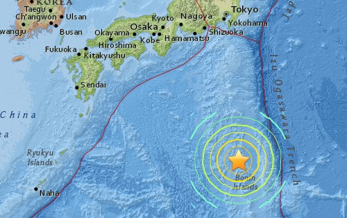 japan earthquake today epicenter map