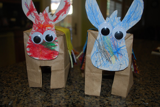 Paper Bag Donkeys with free printable