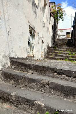 Martinique - Saint Pierre - escalier