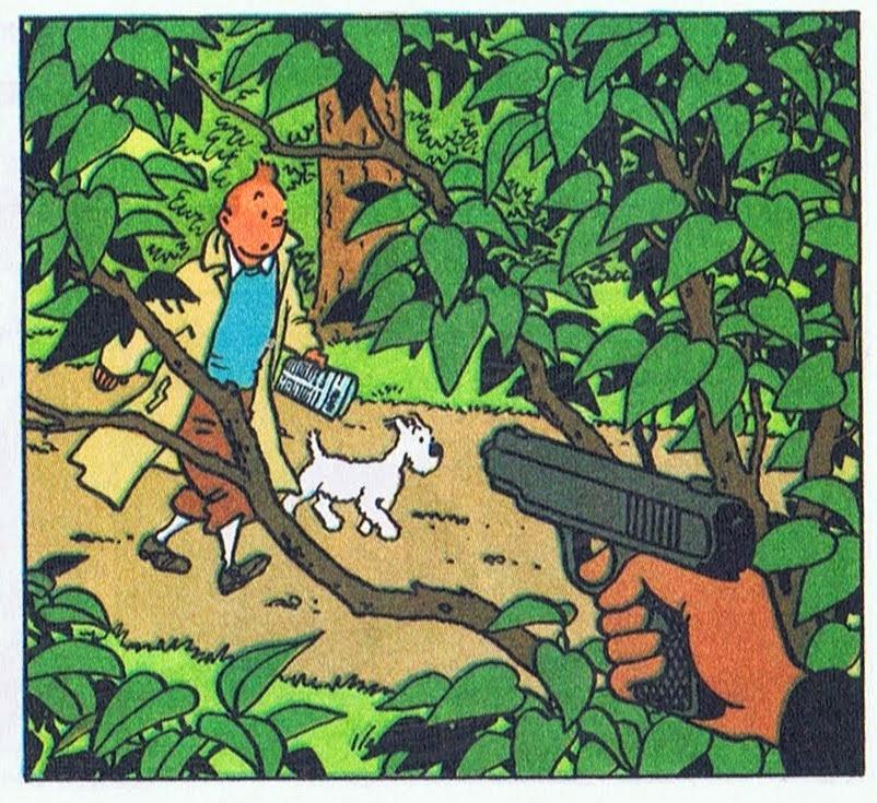 Spécial Tintin ... Les jardins de Moulinsart, analyse ...