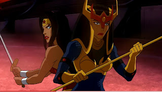 Wonder Woman and Big Barda vs. the Furies