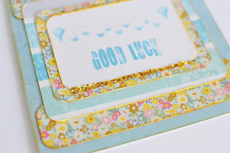 glitter good luck card