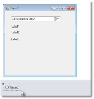 """Langsung saja buka Microsoft Visual Studio 2010 anda. Muncul """" Form1"""