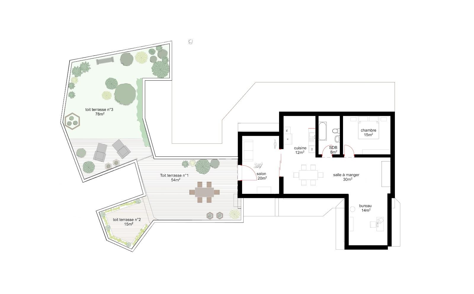 vezin le coquet extention de maison marie courtin. Black Bedroom Furniture Sets. Home Design Ideas