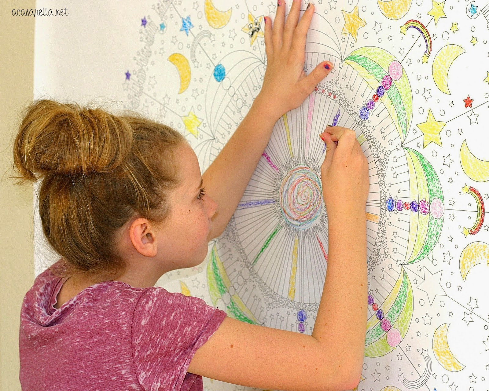 DIY Oversized Coloring Mural | \'A Casarella