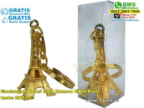 Gantungan Kunci Gold Menara Eiffel Paris
