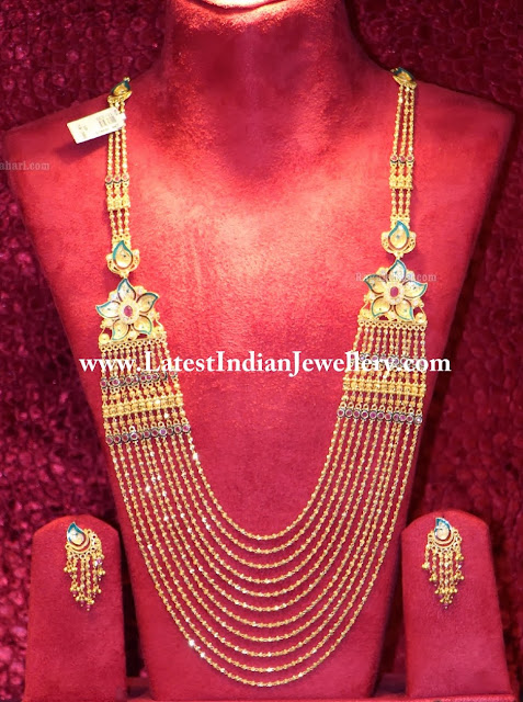 Gold Chandra Haram Design