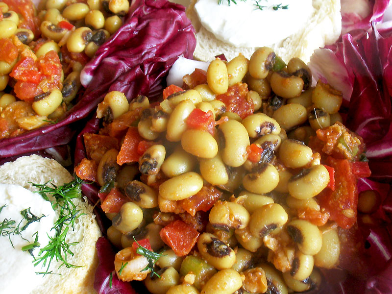Black-Eyed Pea Salad with Indian Spices | Lisa's Kitchen | Vegetarian ...