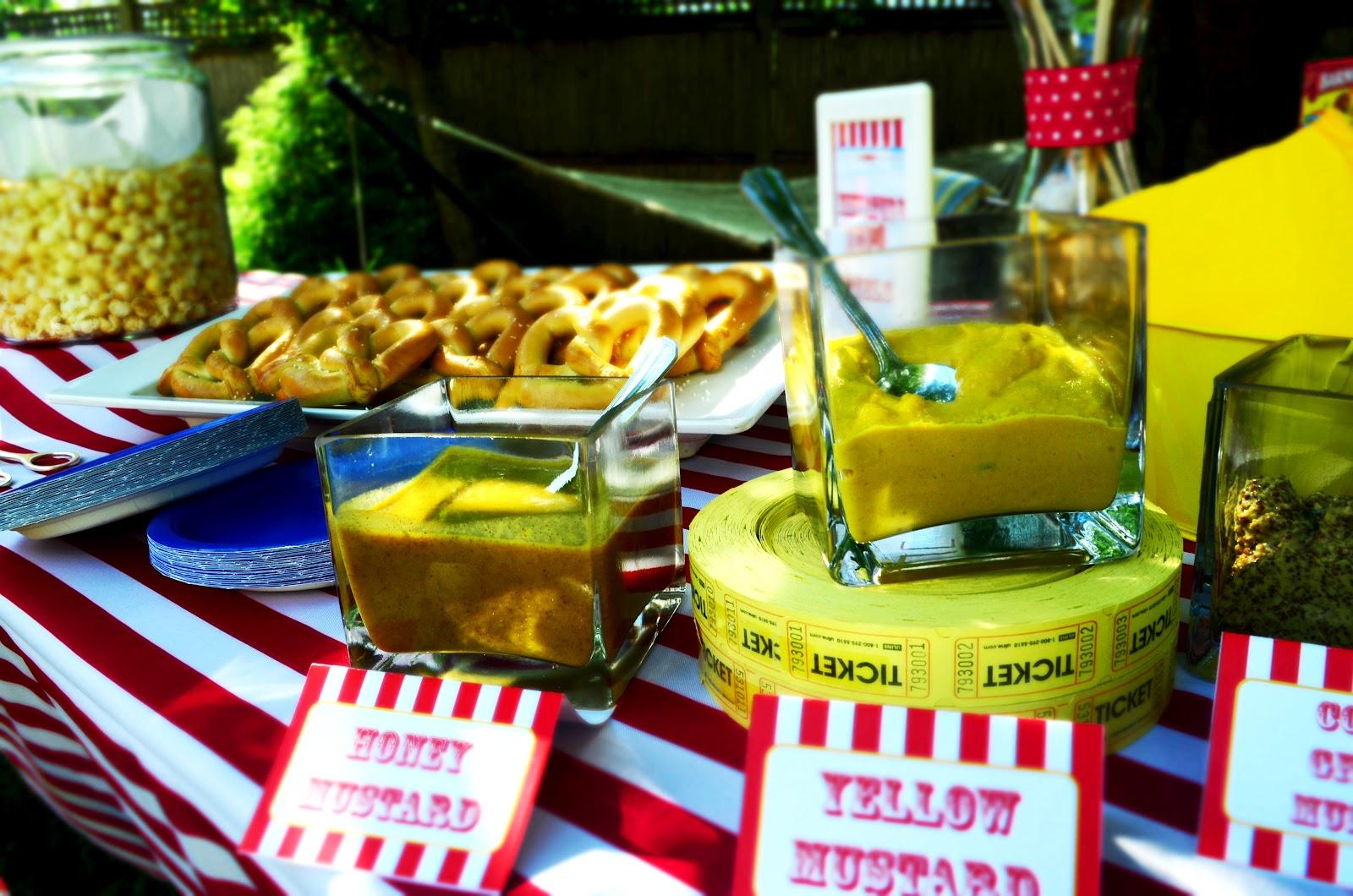 Food Spotlights Under The Big Top Circus Themed 1st Birthday Party