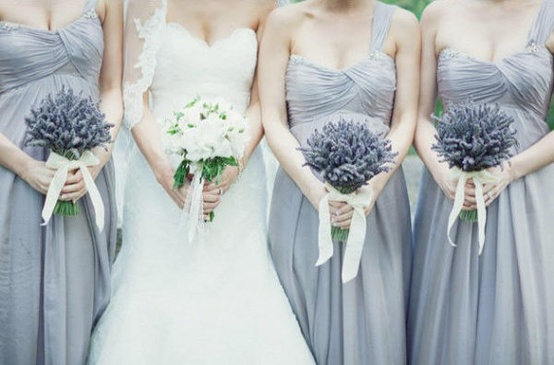 Lavender flower image wedding dress