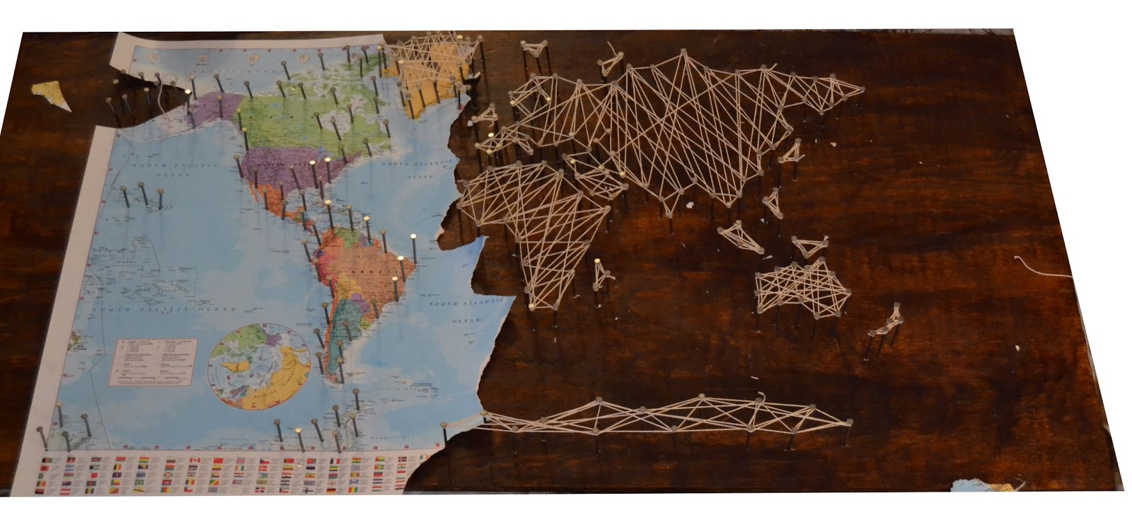 The Crafty Novice Diy String Art World Map