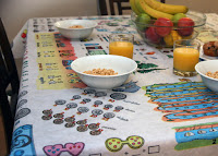 Table-Time Look and Learn tablecloth giveaway