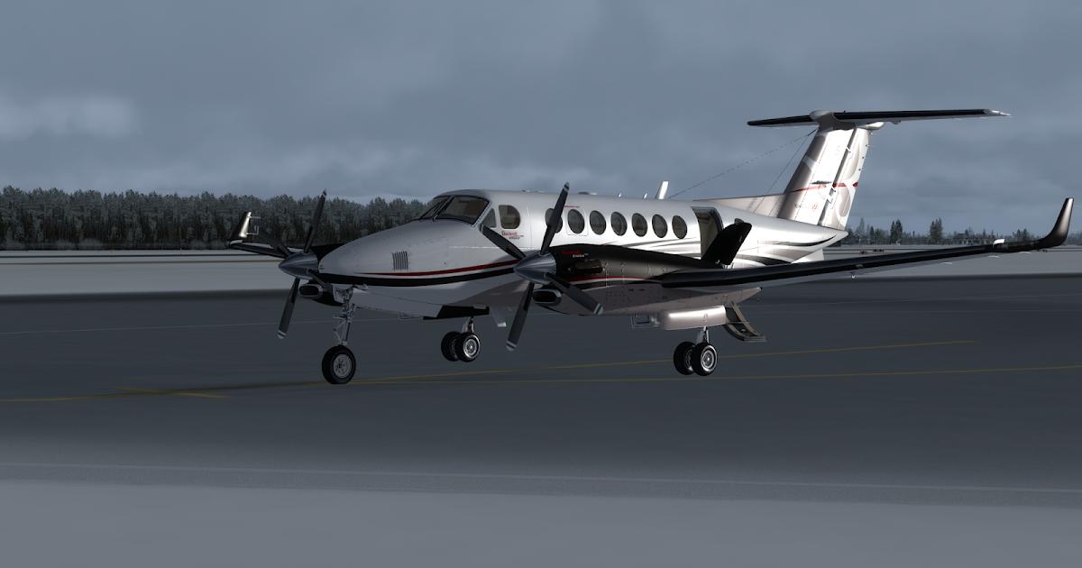 Airdailyx New Milviz Beechcraft King Air 350i Screenshots