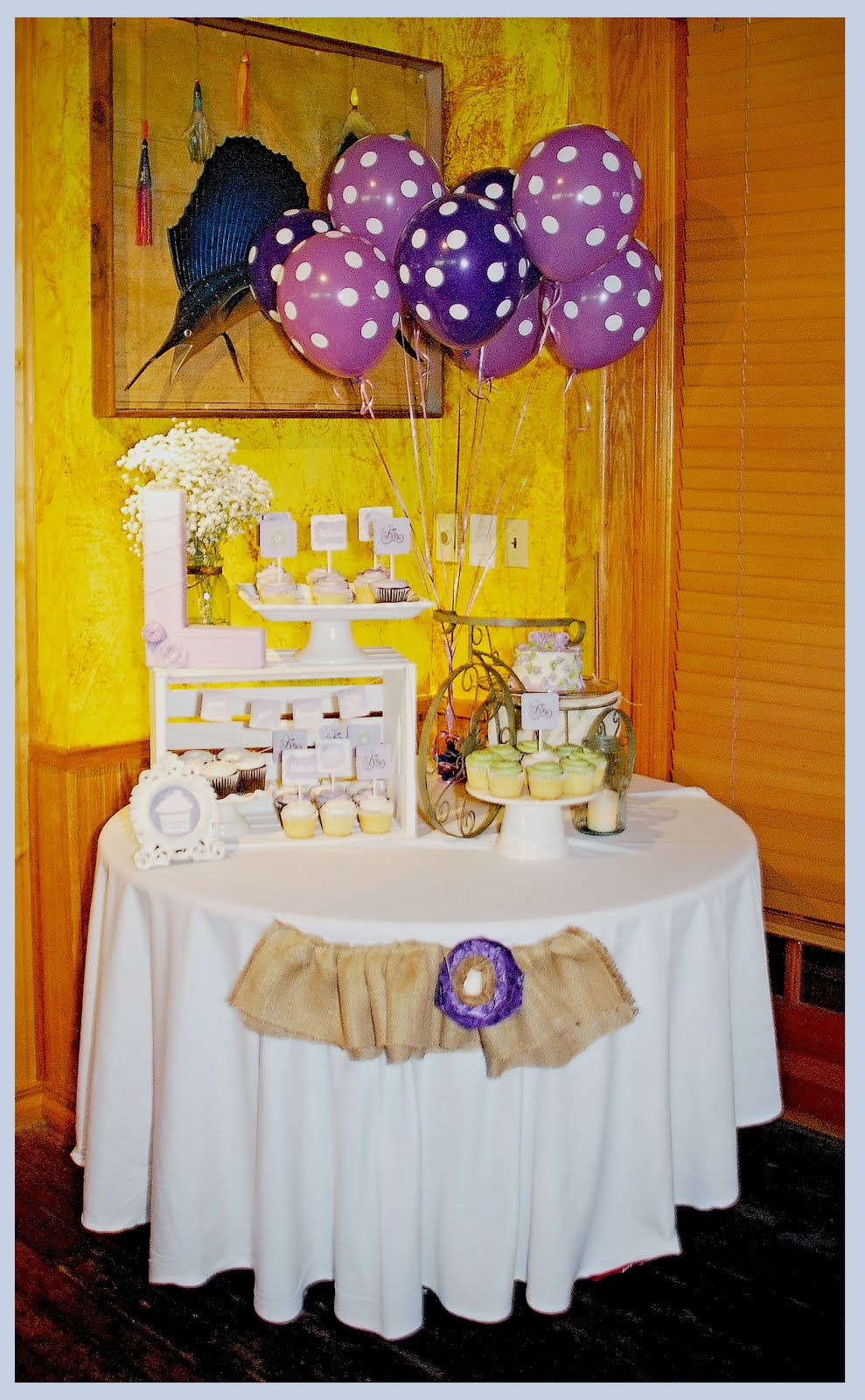 Purple & Green Baby Shower - {guest post} - Shes {kinda} Crafty