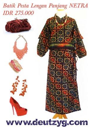 baju batik untuk pesta model exclusive batik cantik yang terdiri dari