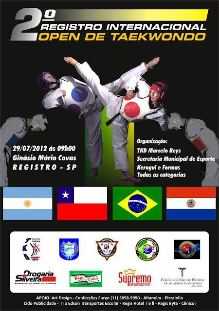2° Registro Internacional Open de Taekwondo