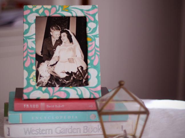 Decoro sin decoro forrar marcos de tela for Diy fabric picture frame