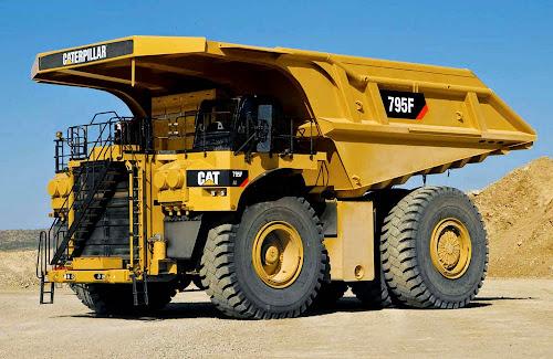 Caterpillar 795F AC Mining Truck - maiores caminhões de mineração do mundo