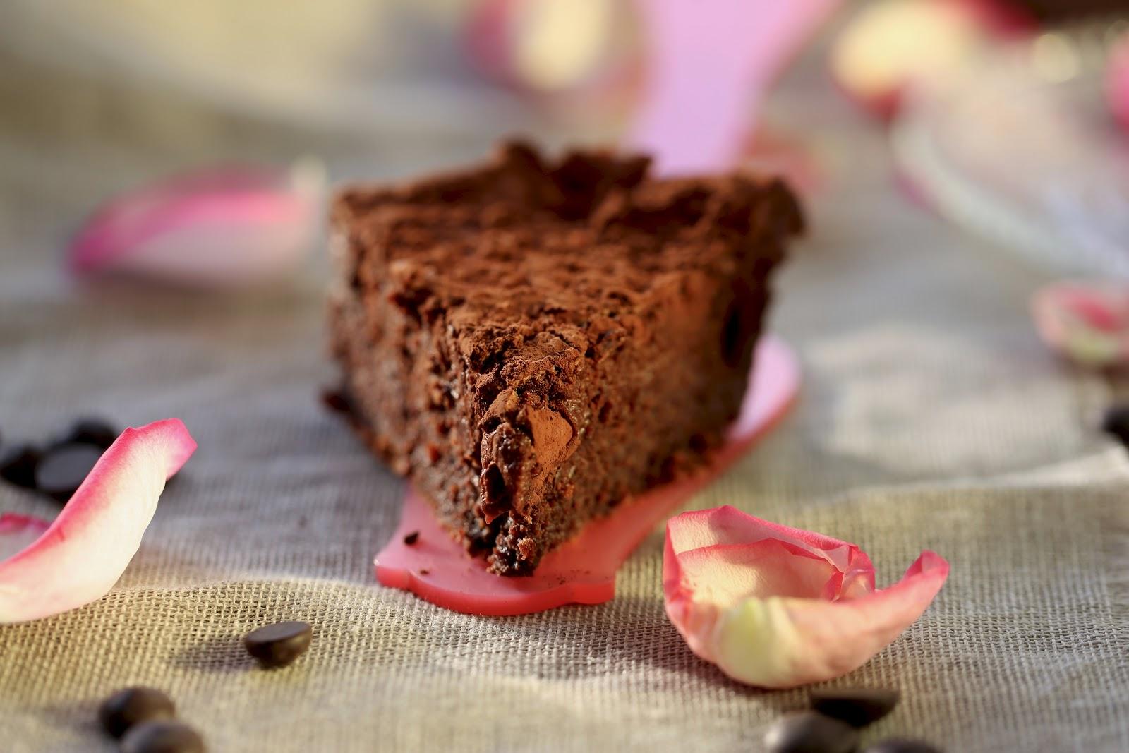 fudge cake , fondant au chocolat , Ottolenghi