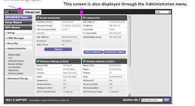 Netgear Genie Screenshot Advanced