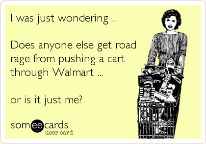 Shopping Cart Road Rage Meme