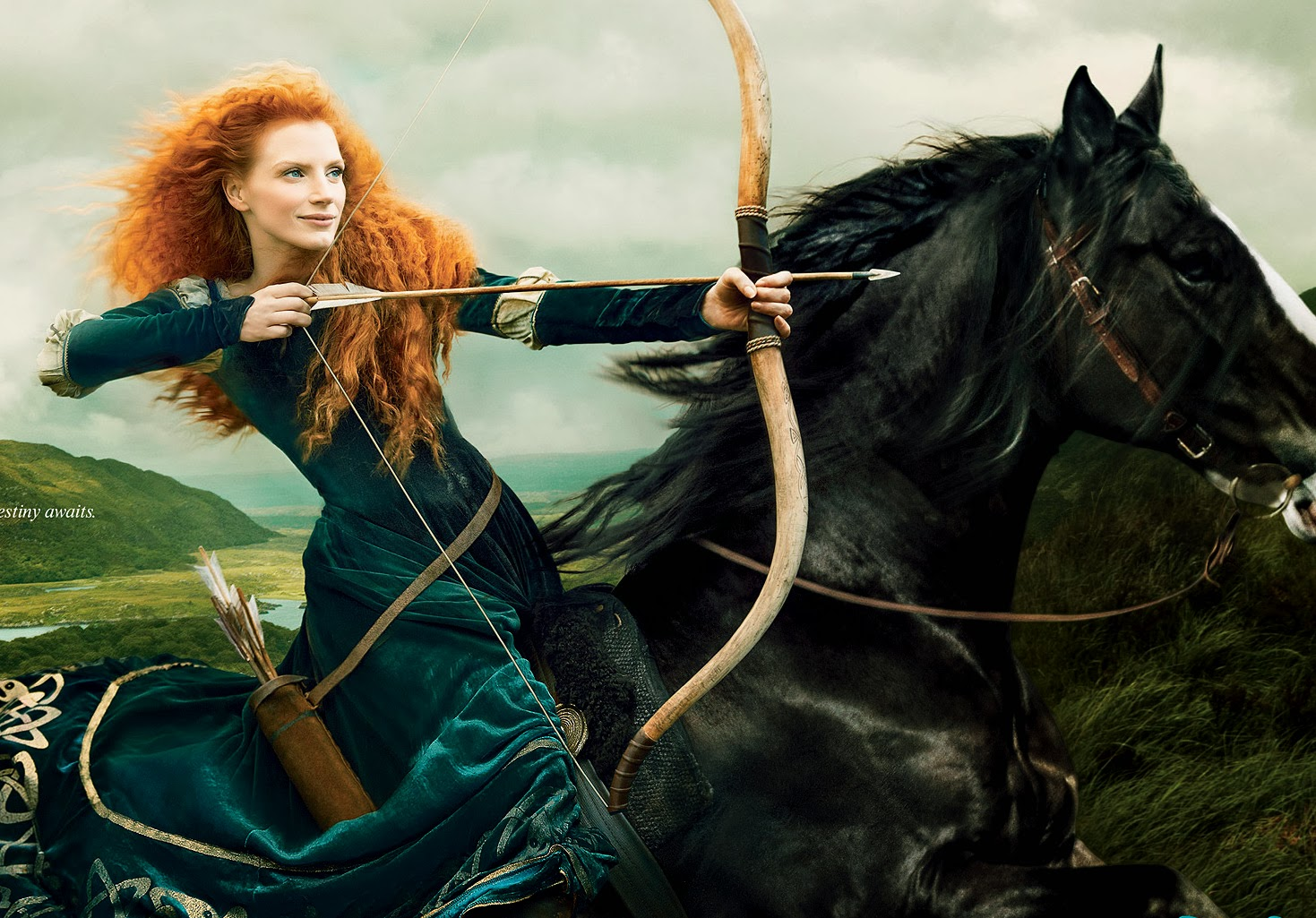 Jessica Chastain is Brave's Princess Merida