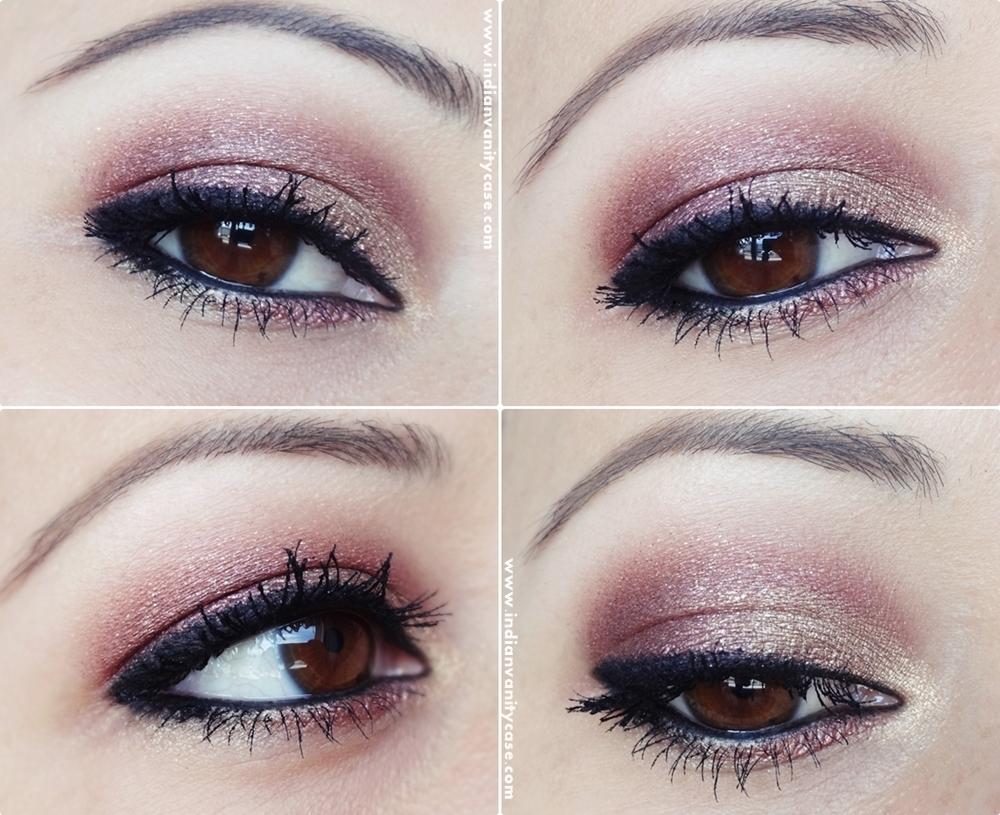 Indian vanity case 2 in 1 eye makeup tutorial metallic eyes v 2 in 1 eye makeup tutorial metallic eyes v kohl eyeliner baditri Images