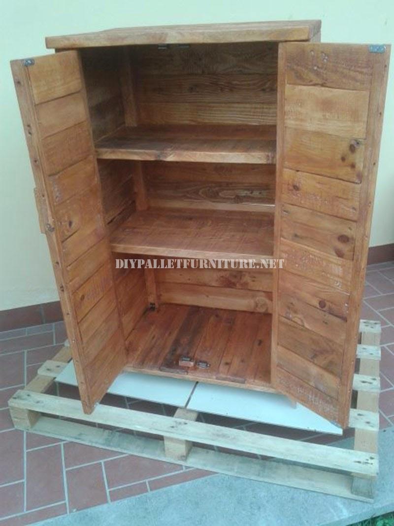 Mueblesdepaletsnet 2 armarios realizados con tablas de palets