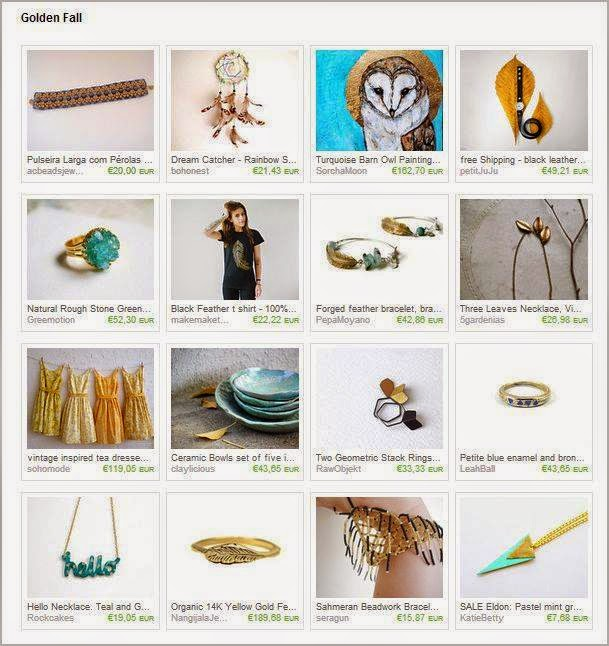 Golden Fall treasury on ETSY featurin my Simplicity Bracelet
