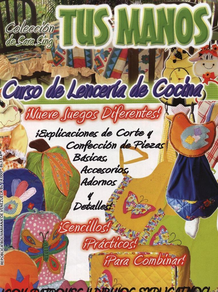 Revista Tus Manos Lenceria De Baño:Revistas De Cocina Gratis