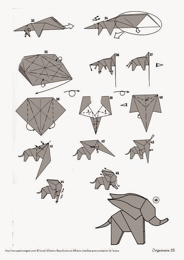 origami elephant instructions easy origami instructions