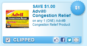 Free Advil Congestion Relief