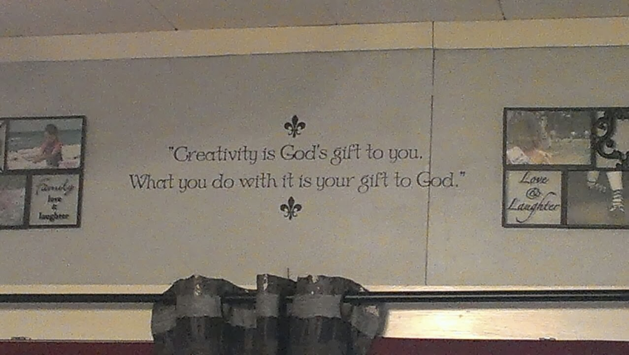 Wise decor creativity and god quote 2