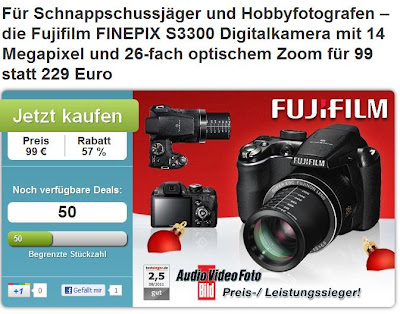 Bridge-Kamera Fujifilm FINEPIX S3300 bei DailyDeal für 99 Euro