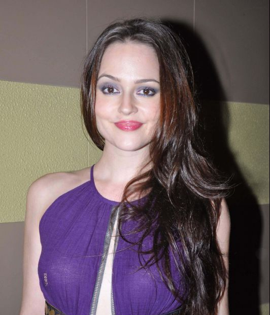 Hazel Keech Hot In Purple Dress