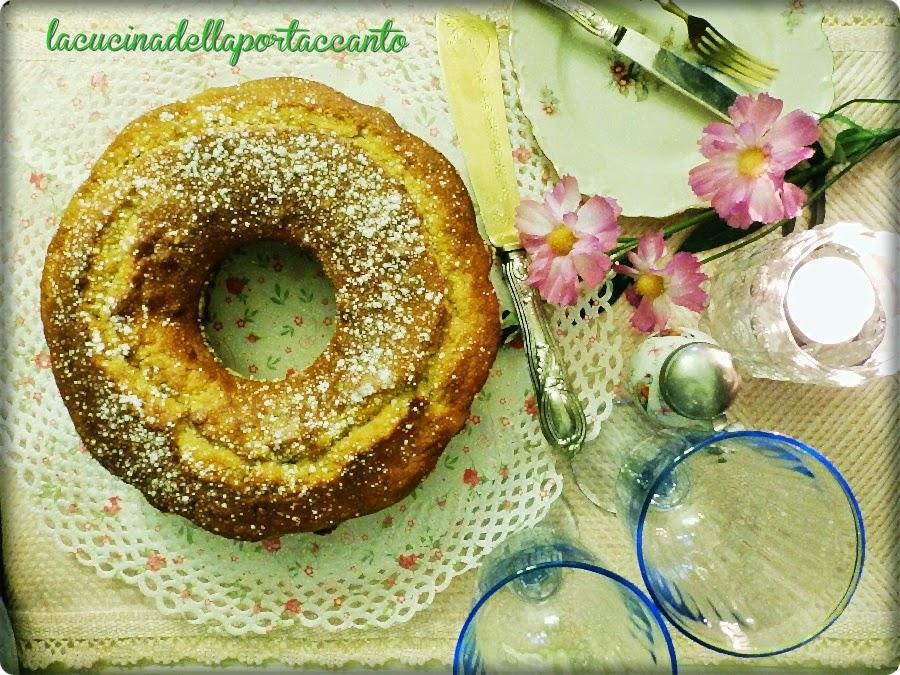 ciambella alla ricotta e pistacchi / donut with ricotta and pistachios
