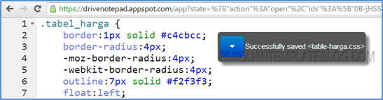 Edit CSS Javascript HTML Google Drive