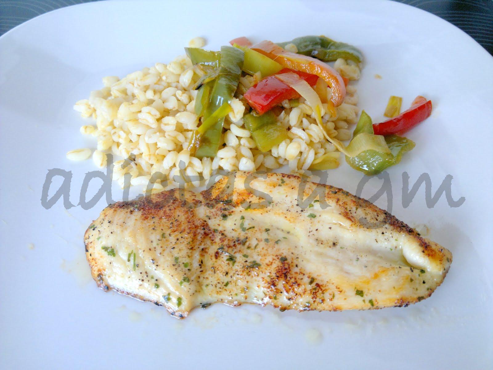 Trigo Con verduras y pechuga de pollo